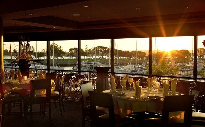 Roy's San Diego exquisite private dining room overlooking San Diego Harbor