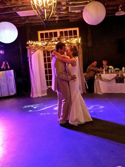 The couple dancing