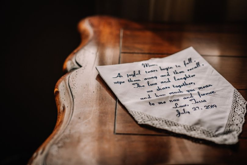 Note from Bride to Mother
