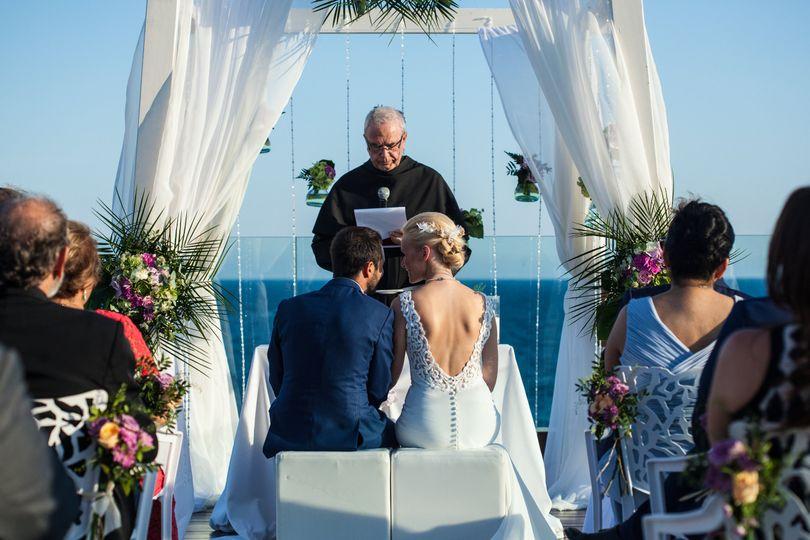 Roof terrace ceremony