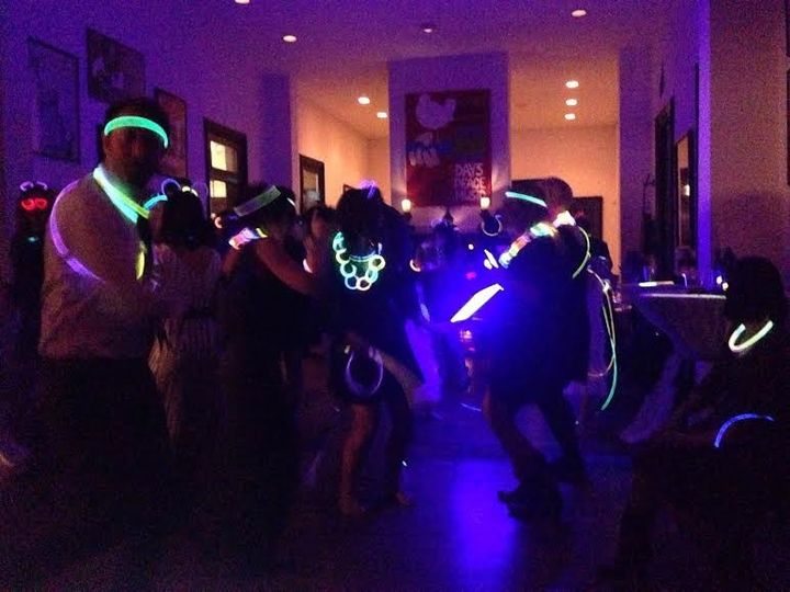 The bride brought glow sticks!