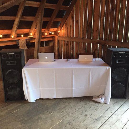 Our dj set up!