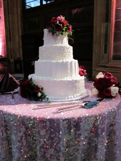 Wedding cake made by our in house pastry department