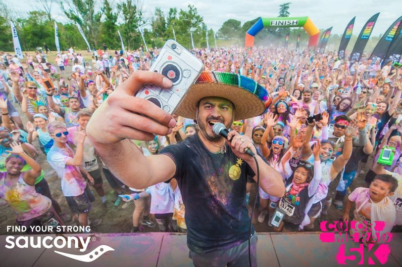 Emceeing for a crowd of over 2,000 people at the 2016 Color Me Rad 5K.  A different cut from your...