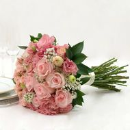 This beautiful pink rose bridal flower collection comes different quantities such as 10, 17, 23, 33,...