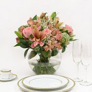 Centerpiece Collection 6 gorgeous centerpiece bouquets already assembled with beautiful pink rose...