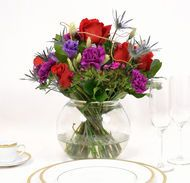 Centerpiece Collection 6 gorgeous centerpiece bouquets already assembled with beautiful  red rose &...