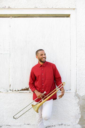 Trombone Player and BGV