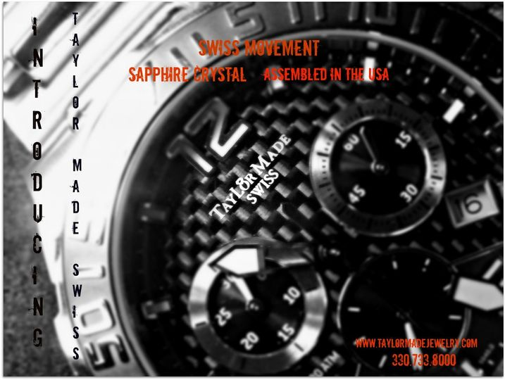 Taylor Made Jewelry is happy to announce we now carry our very own brand of Swiss movement watches...