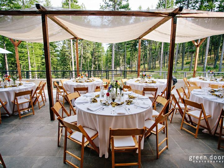 Tmx 1380816803899 Wood Structure With Drape Columbia Falls, MT wedding rental