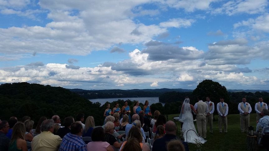 Wedding with a view
