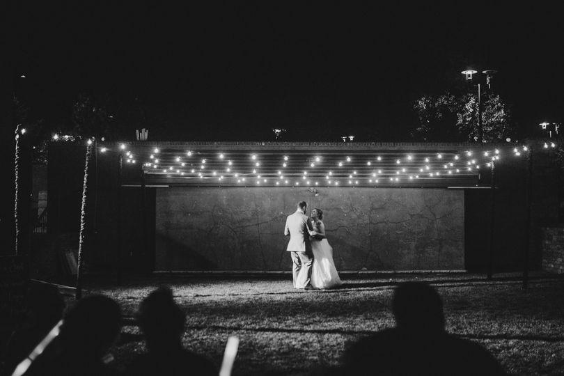 Outdoor Dancing Bistro Lights