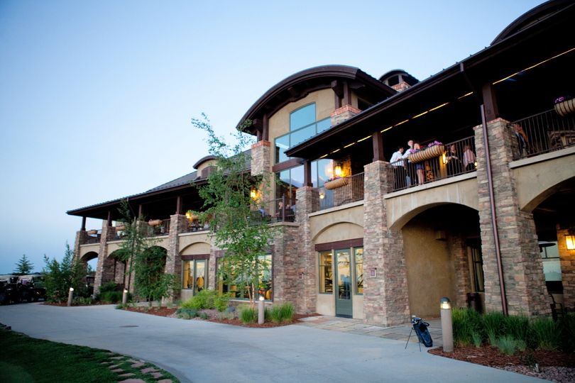 The back of the clubhouse