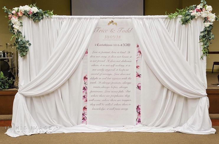 Ceremony backdrop