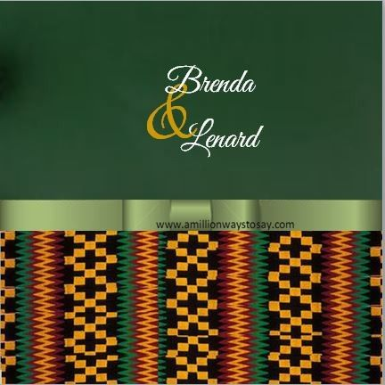 kente with green wedding