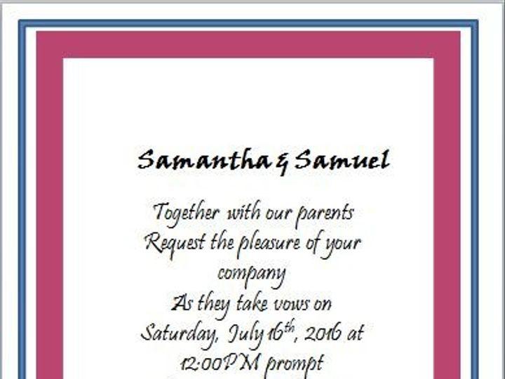 Tmx 1466550553543 Pink And Blue Damask Back Elkridge wedding eventproduction