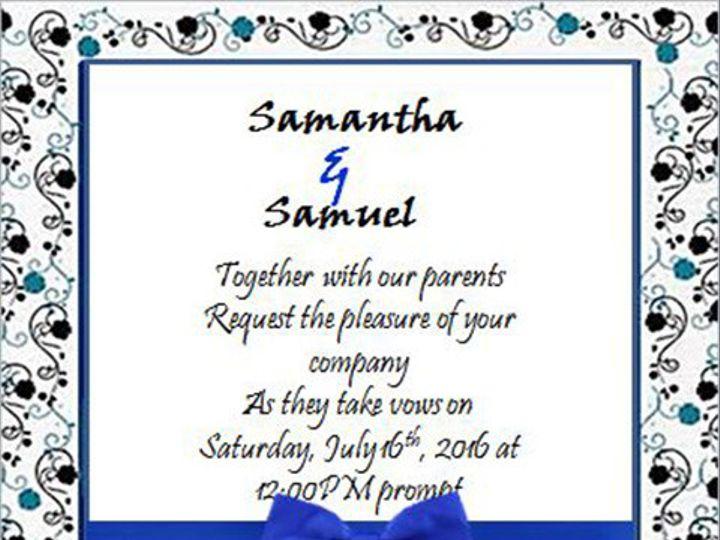 Tmx 1466550571312 Royal Bue Bow And Blue Damask Elkridge wedding eventproduction