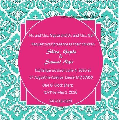 Tmx 1466550580554 Teal Damask Elkridge wedding eventproduction