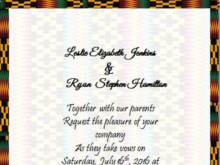 Tmx 1466598394567 Kente Back Elkridge wedding eventproduction