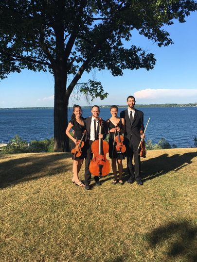 Quartet by the water