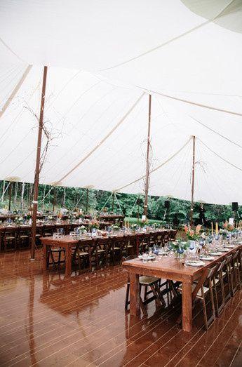 decorated sailcloth tent