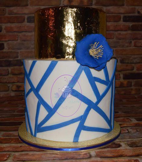 Geometric Pantone Blue 2020
