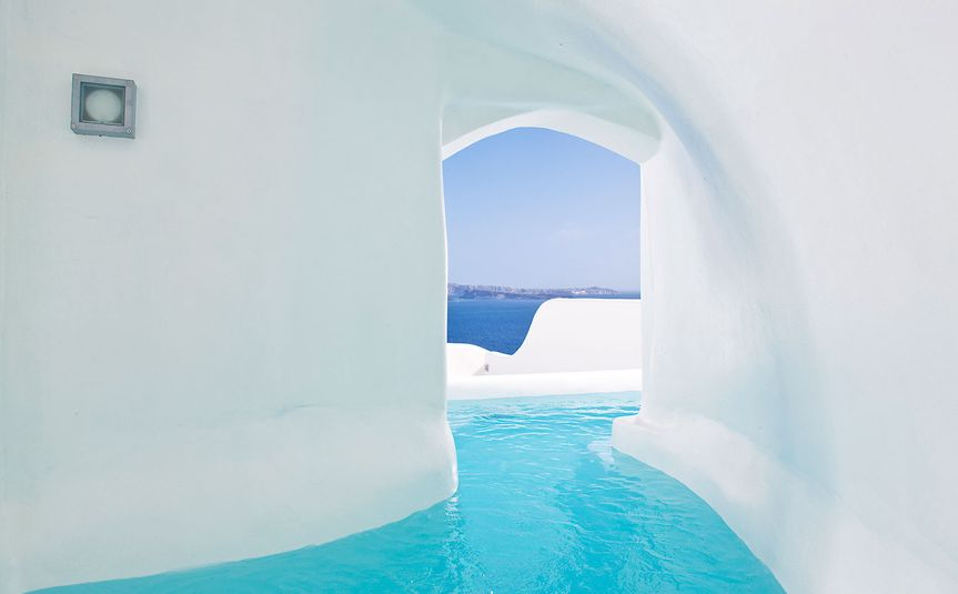 canaves river pool santorini
