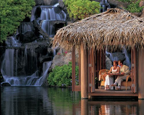 Romantic dinner for two at one of our favorite resorts in hawaii, can you guess which one? Hint, it...