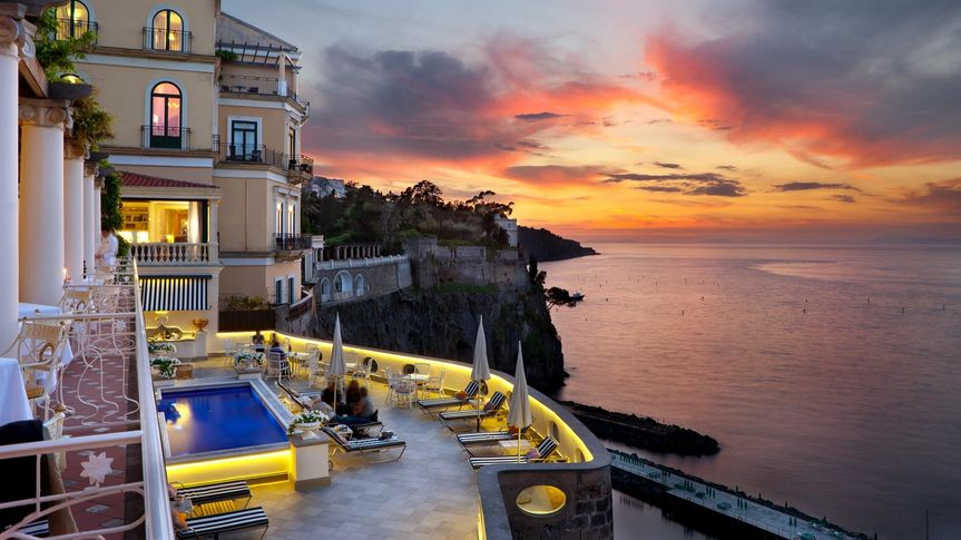 Spectacular setting in Sorrento, ask us about our #1 Sorrento honeymoon luxury hotel choice!