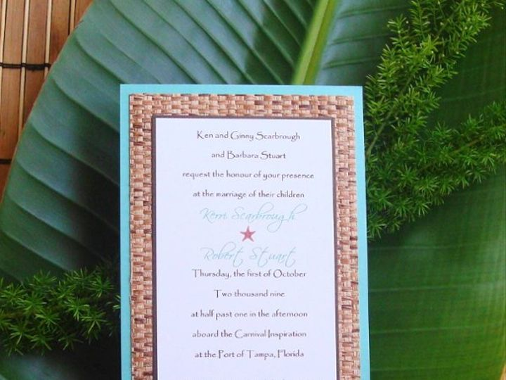 Tmx 1264103939264 5x7BambooInvitation Saint Petersburg wedding invitation