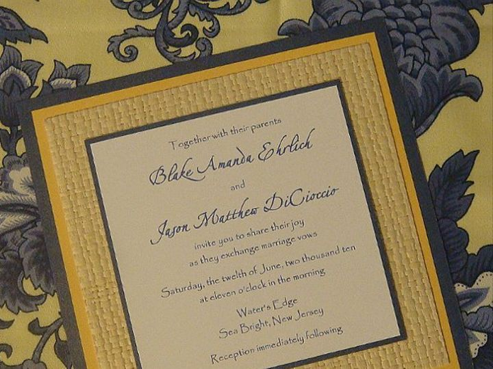 Tmx 1264103970530 Blueyellowwhite Saint Petersburg wedding invitation