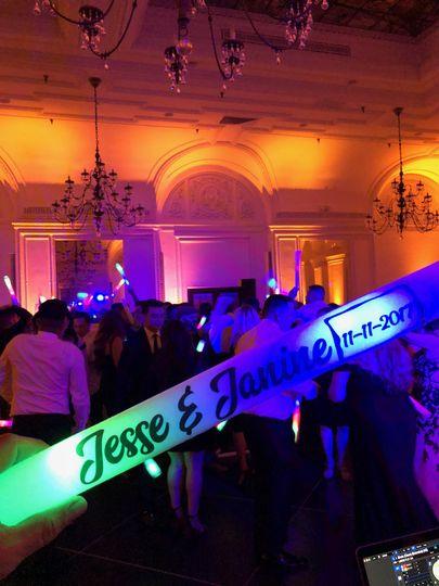 Foam glow sticks for dancing