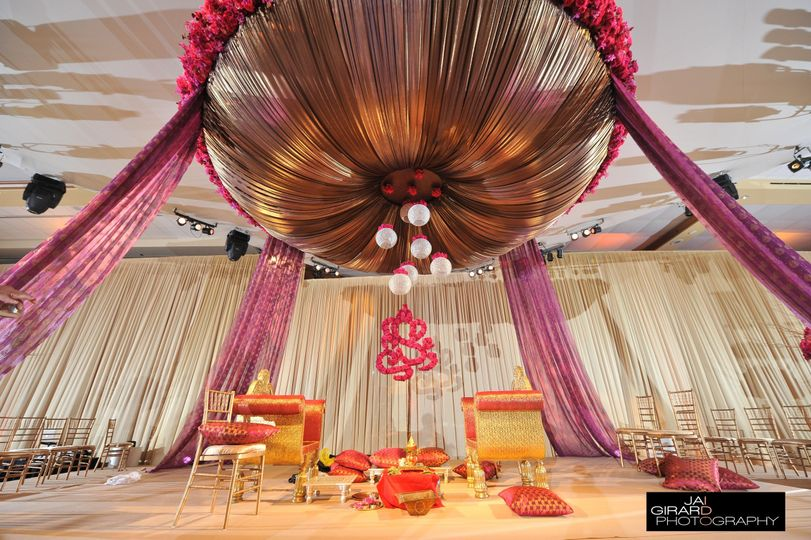 Traditional wedding ceremony set up