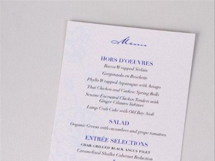 Tmx 1227410349526 Maribeth MichaelMenu Severna Park wedding invitation
