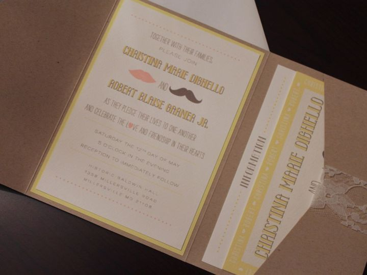 Tmx 1406075368297 Christina   2 Severna Park wedding invitation