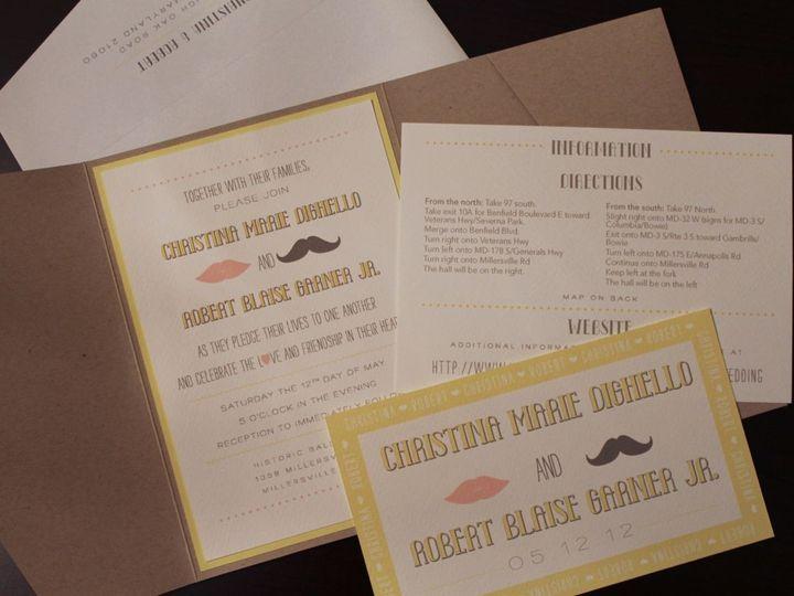 Tmx 1406075372949 Christina   3 Severna Park wedding invitation