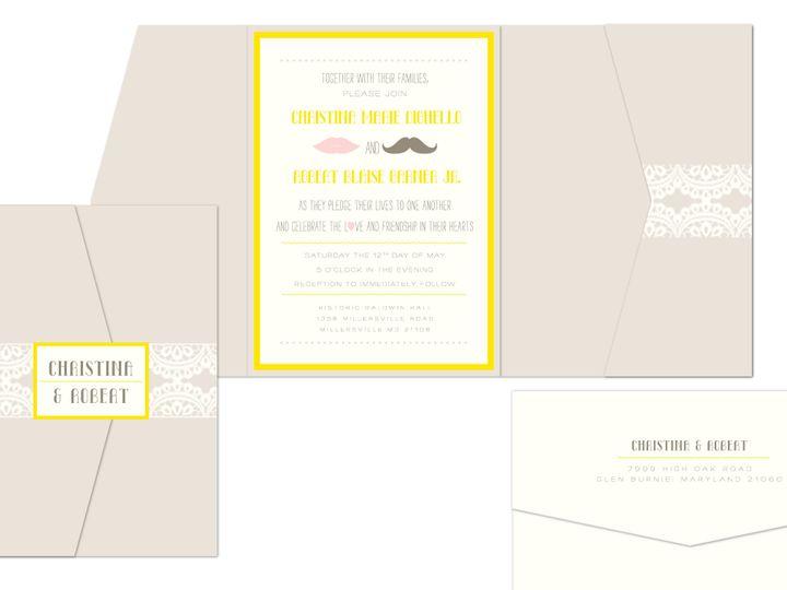 Tmx 1406075383508 Christinapage1 Severna Park wedding invitation