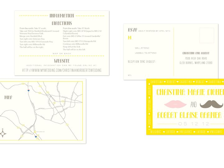 Tmx 1406075424005 Christinapage3 Severna Park wedding invitation