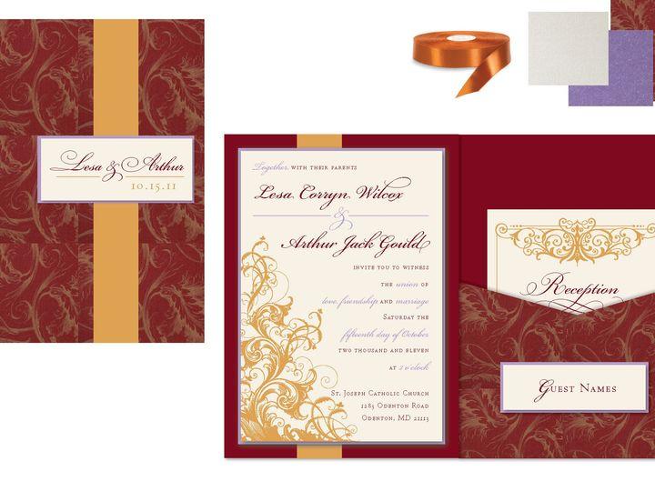 Tmx 1406075524181 Lesapage1 Severna Park wedding invitation