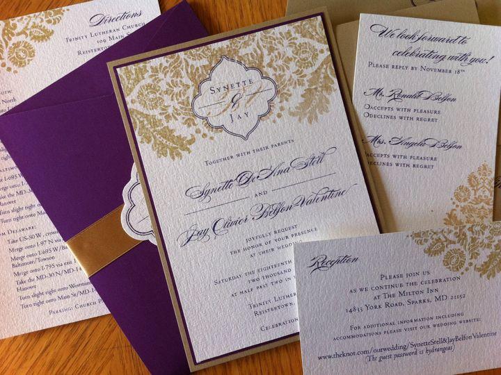 Tmx 1406075633468 Synette1 Severna Park wedding invitation