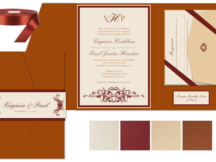 Tmx 1406075647948 Virginiapage1 Severna Park wedding invitation