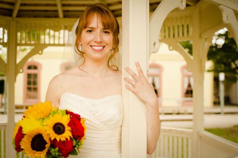 The bride at the Ohio Village
