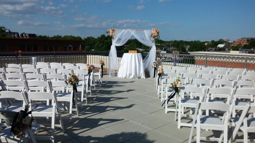 rooftop terrace ceremony