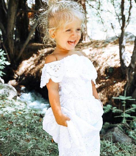 Little Positano gown for flower girl