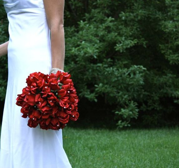Red Rose Bouquet (real touch flowers)