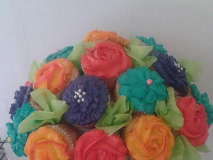Tmx 1457546539788 Cupcake Flower Bouquet Jenks wedding cake