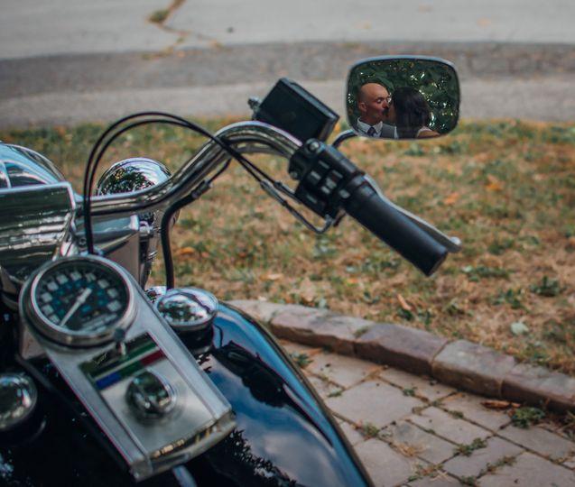 Motorcycle kiss