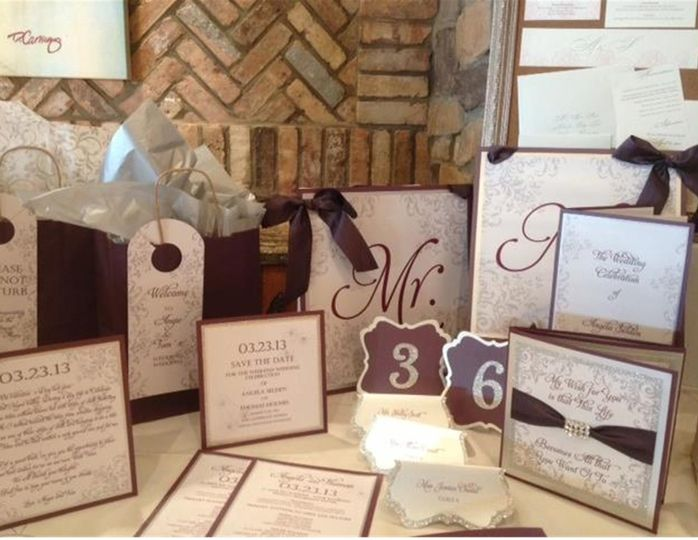 Gorgeous Wedding Invitation Suite Visit our website for more pictures and contact information!...