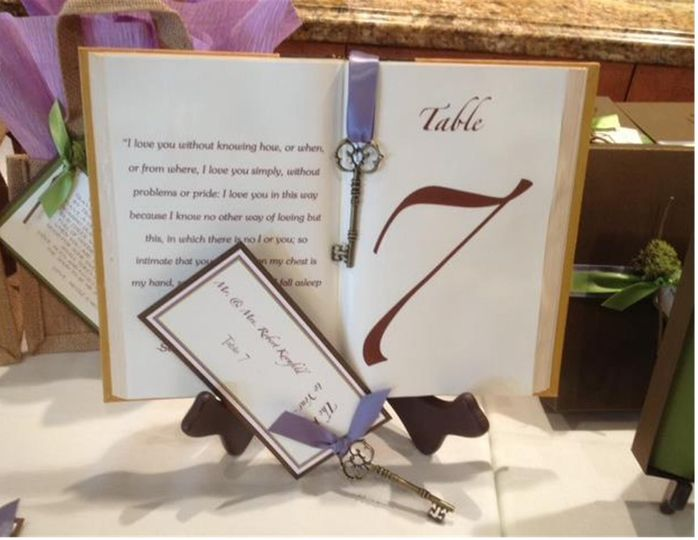 Table Number and Escort Card Visit our website for more pictures and contact information!...