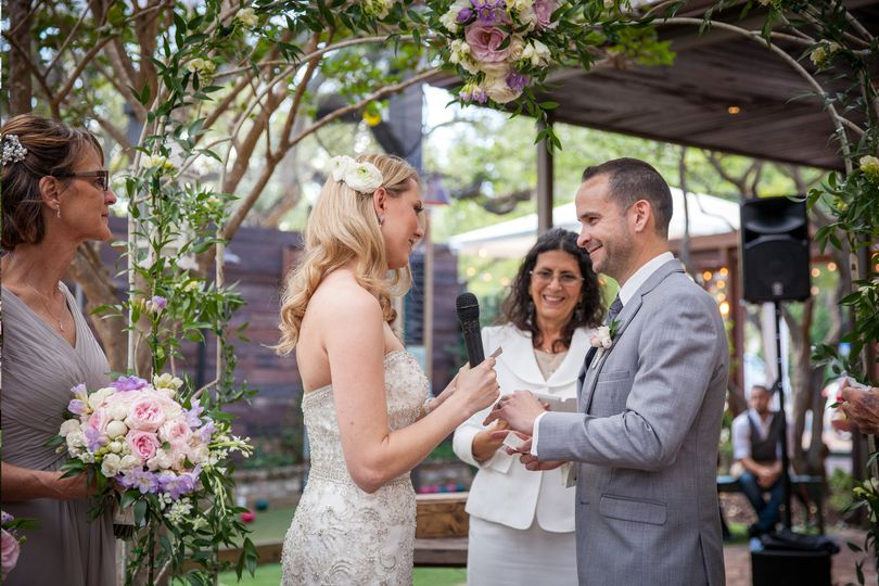 Stacey & dustin garden wedding at louie bossi, las olas ft. Lauderdale
